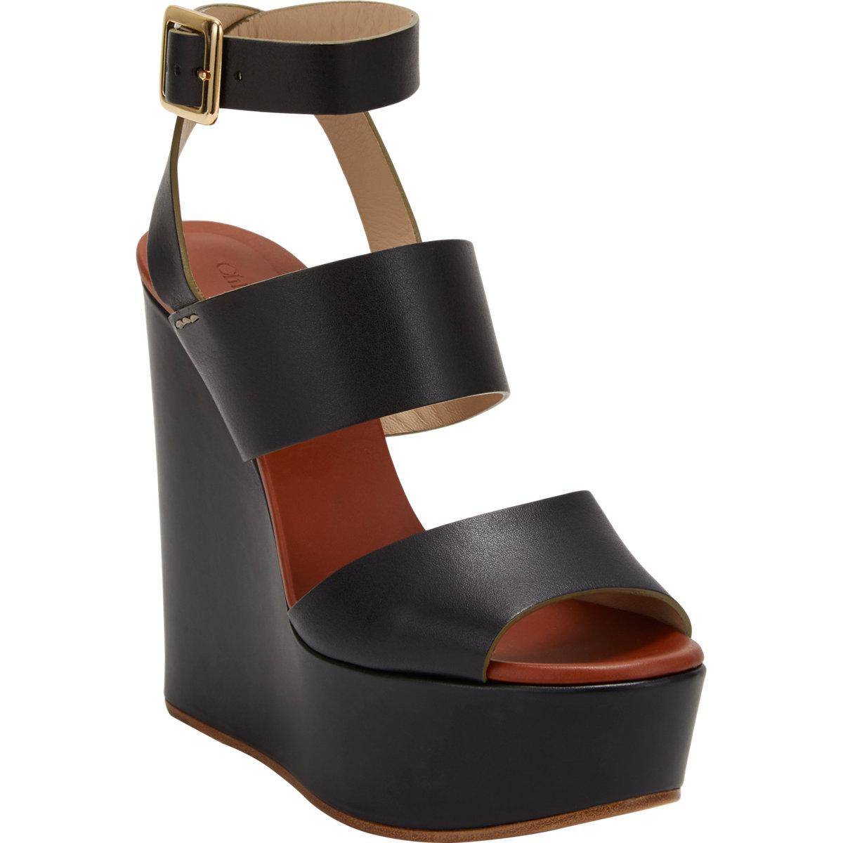 Chloé Platform Wedge Sandals online cheap authentic free shipping 2014 unisex xjxfcow