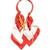 Logo silk-twill scarf-necklace