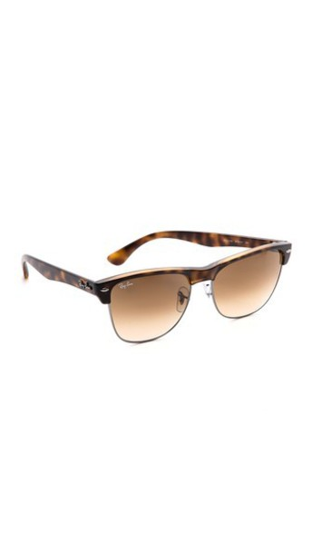 Ray-Ban Oversized Clubmaster Sunglasses - Havana/Crystal Brown Gradient