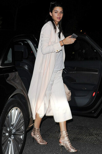 pants sandals kendall jenner coat trench coat cannes shoes