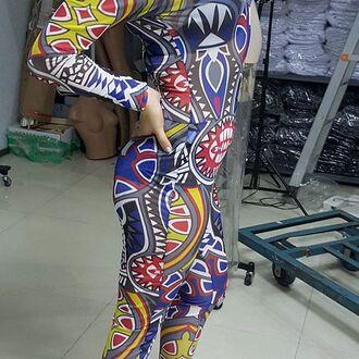 jumpsuit tribal jumpsuit print jumpsuit printed jumpsuit mesh jumpsuit tattoo jumpsuit sexy jumpsuit wholesale sexy jumpsuit celebrity style celebrity jumpsuit long sleeve jumpsuit