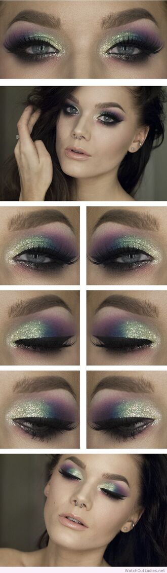 make-up linda hallberg eye makeup color/pattern glitter party make up