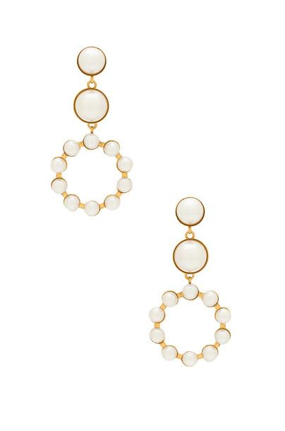 Elizabeth Cole earrings metallic gold jewels