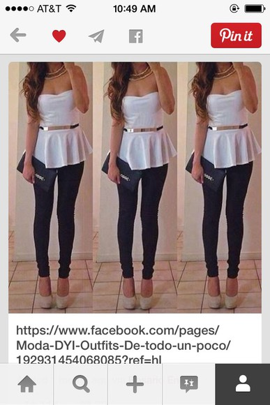 white top Belt