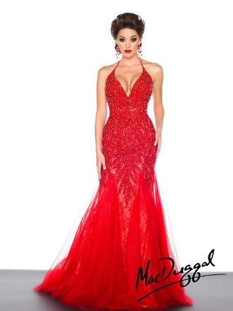 dress mac duggal prom dresses red dress red