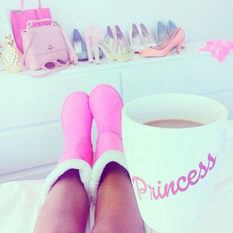home accessory white princess mug cup letters girly