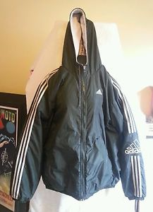 Hood Old Windbreaker Vintage School L Adidas Size Green Jacket 5L4AR3j