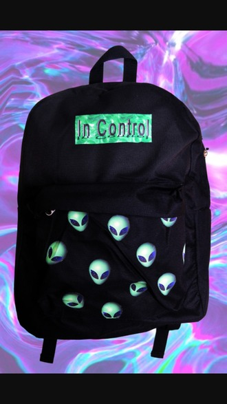 bag alien black bag idk cx i love them