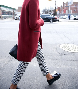 where did u get that blogger vichy creepers red coat