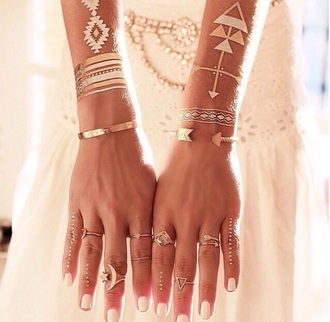 temporary tattoo metallic tattoo jewels