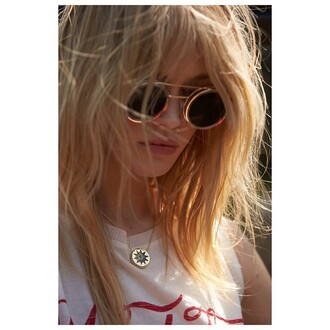 sunglasses spitfire round gold revolve clothing revolve