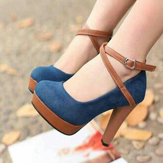 shoes pumps heels high heels straps blue blue suede blue suede heels brown and blue fall outfits suede heels with straps pinterest shoes autumn shoes spring shoes