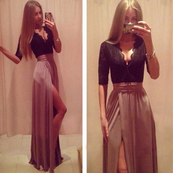 top long dress lace up khaki bow dress sleveless lace dress