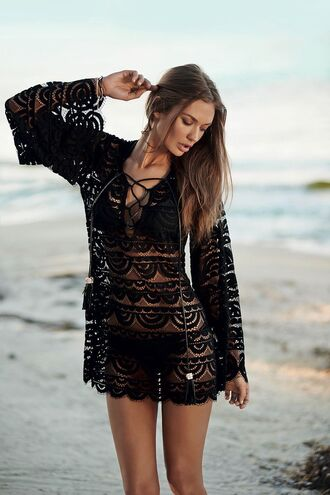 dress lace cover up cover up black lace dress beach dress