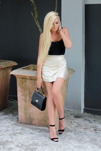 superficial girls blogger top bag jewels sandals mini skirt