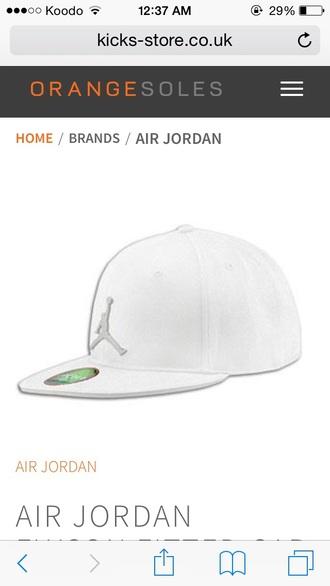 hat air jodan jumpman white cap