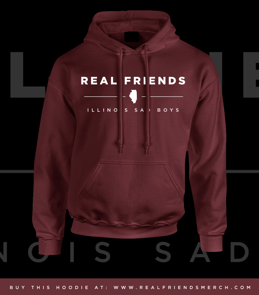 Maroon illinois sad boys hoodie