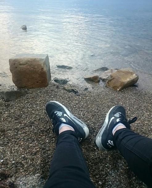 shoes black nike air max nike air max 90 water
