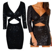 sequins,sequin dress,black,party,clubwear,sexy,criss cross,cut-out
