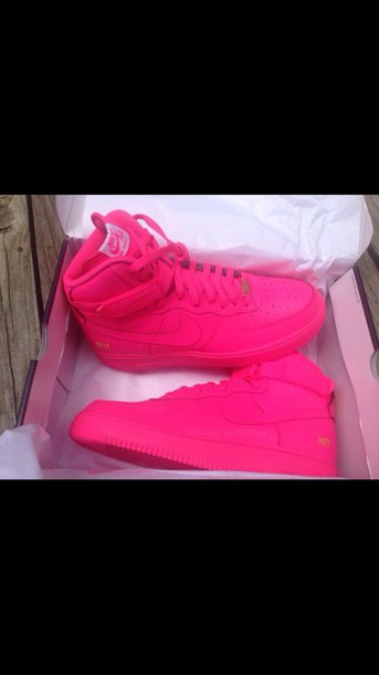 shoes all pink air force ones