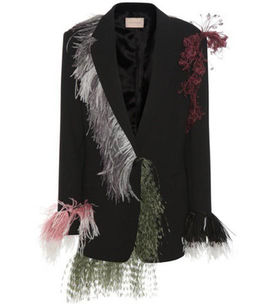 Christopher Kane Wool Jacket in black