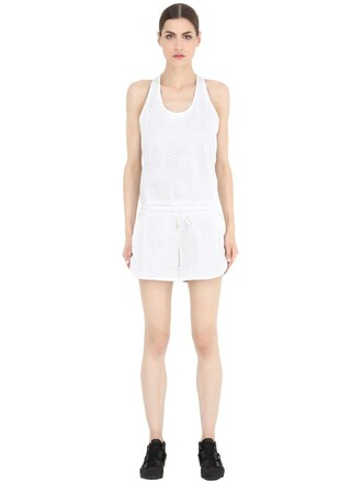 jumpsuit mesh white