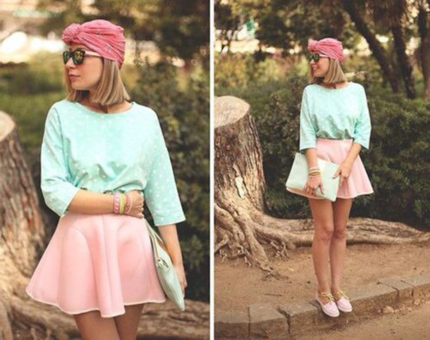hair accessory skirt sweater