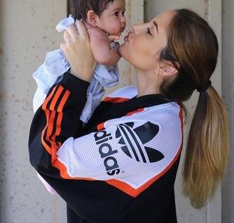 jacket adidas catherine paiz black white orange instagram adidas jacket bomber jacket