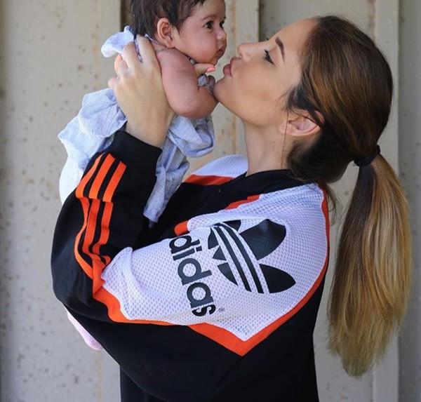 Jacket Adidas Catherine Paiz Black White Orange