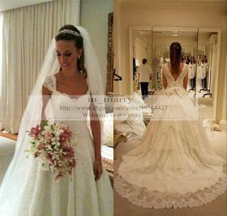 dress vintage lace wedding dresses princess wedding dresses 2016 wedding dresses a line wedding dresses beautiful wedding dress sheer wedding dresses bow wedding dress