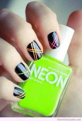 nail polish neon nail art nails green neon nail polish