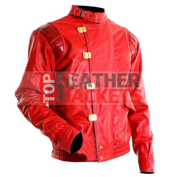 jacket motorcycle jacket clothes biker style jacket akira kaneda stylish red jacket