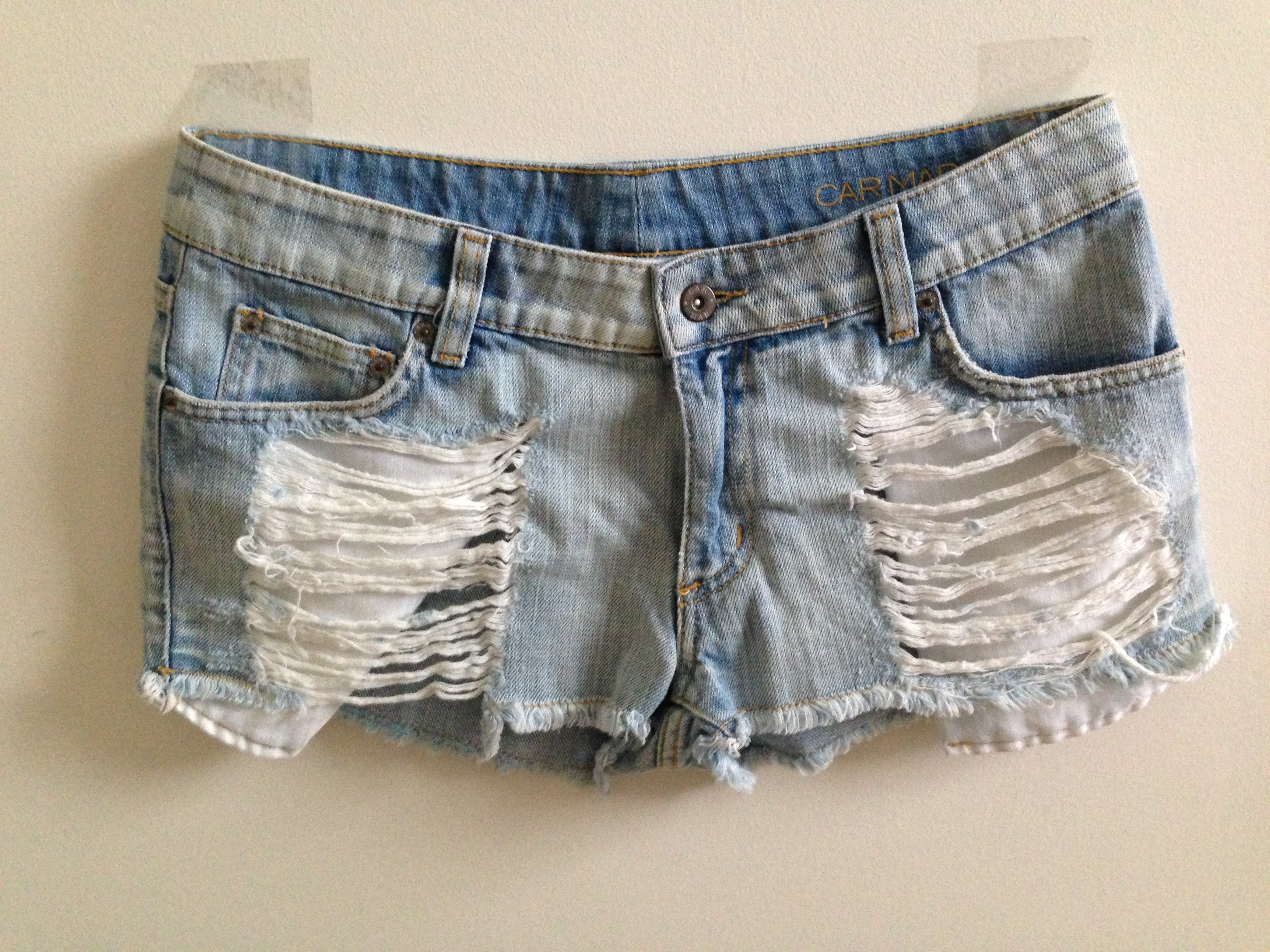 LF slashered denim short shorts from Snazzy Chic Boutique on Storenvy