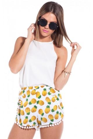 Rumba shorts in pineapple print