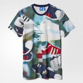 shirt adidas adidas originals tumblr aesthetic vaporwave grunge soft grunge pale grunge tumblr tumblr adidas aesthetic t-shirt adidas shirt