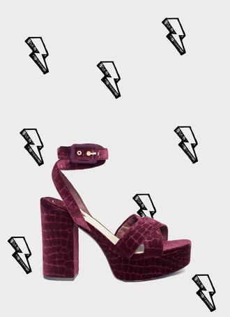 shoes platform shoes platform sandals velvet shoes fall accessories crocodile
