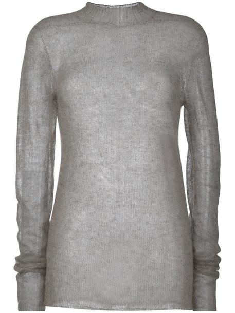 Rick Owens jumper women soft grey sweater