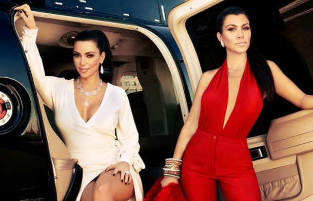 e87f357f150 dress kourtney kardashian kim kardashian red white jumpsuit sexy keeping up  with the kardashians jewels