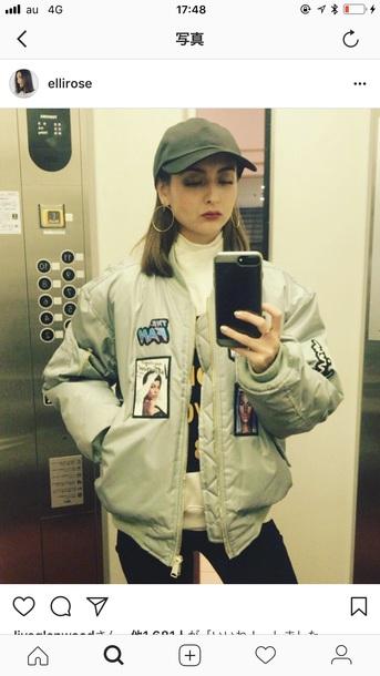 jacket elli rose is wearing on instagramm