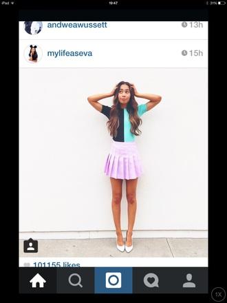 skirt mylifeaseva pink purple pleated