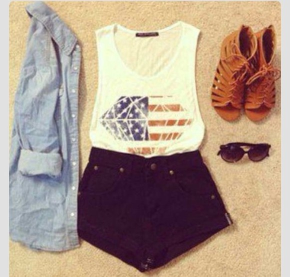 t-shirt shorts tee top