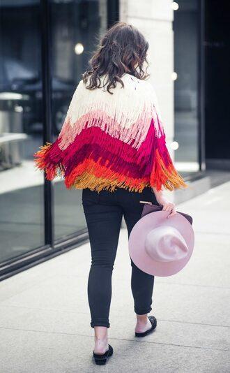 live more beautifully blogger jacket fringed jacket multicolor jacket