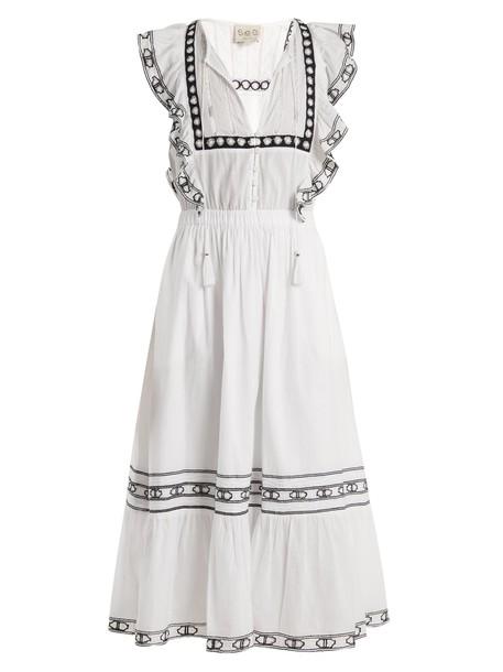 SEA dress lace cotton white