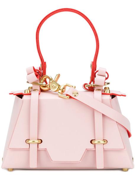 NIELS PEERAER bow women leather purple pink bag