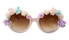Spring Fling Baroque Sunglasses- White – Glamzelle