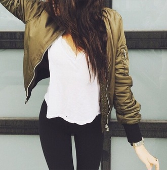 jacket coat green army green jacket madison beer green jacket winter sweater sweater cropped sweater cropped hoodie cropped bomber jacket khaki bomber jacket khaki olive green summer army green satin bomber baseball jacket green bomber jacket
