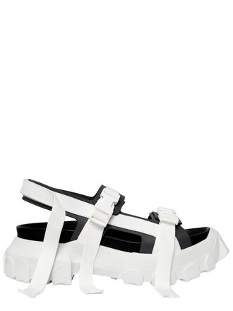 sandals leather sandals leather white grey shoes