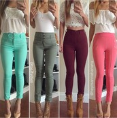 pants,skinny pants,high waisted pants,burgundy pants,burgundy jeans,jeans,leggings,skinny jeans,high waisted jeans,heels,high heels,cute high heels,lace up heels,nude heels,nude high heels,pointed toe,pointed toe pumps,top,blouse,summer top,cute top,crop tops,white crop tops,white top,off the shoulder,off the shoulder top,trendy,clothes,streetwear,streetstyle,style,stylish,clubwear,fashion