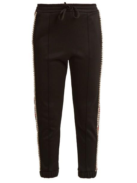 cropped embellished black pants