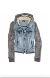 jacket,denim jacket,sleeves,hoodie,sweater,denim,denimhoodie,warm jacket,hoodie sleeves,blue,blue denim,grey,grey hoodie,style,fashion,warm,pinterest,buttons,button up,pockets,vest,cute,want!!!!,jeans,striped shirt,jean jackets,hooded denim jacket,coat,urban,gray hoodie,top,grey sweater,american eagle